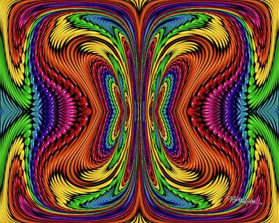 Digital Art - Bead Morph Color Energy #129 by Barbara Tristan
