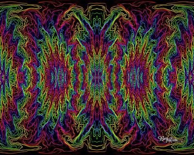 Digital Art - Bead Morph Electricity #126 by Barbara Tristan