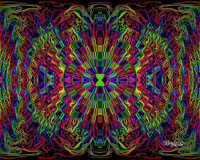 Digital Art - Bead Morphs #120 by Barbara Tristan