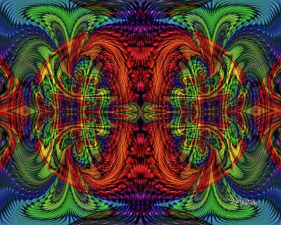 Digital Art - Bead Morphs Symmetry #131 by Barbara Tristan