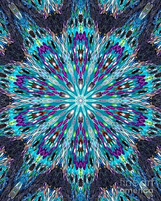 Beadwork Digital Art - Bead Mosaic Digital Kaleidoscope 2 by Sofia Metal Queen