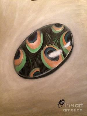 Jenna Thomas Wall Art - Painting - Bead Of A Peacock by Jenna Thomas
