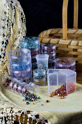 Photograph - Bead Supplies Still Life 2 by Ron Grafe
