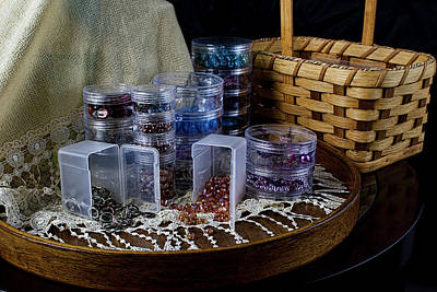 Photograph - Bead Supplies Still Life by Ron Grafe
