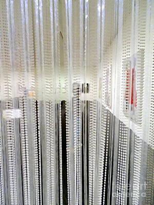 Digital Art - Beaded Curtain In Gallery by Ed Weidman