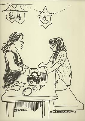 Beadwork Drawing - Beading by James Christiansen