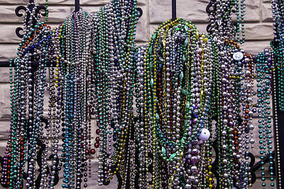 Nola Photograph - Beads On Iron Wrought Fench by Garry Gay