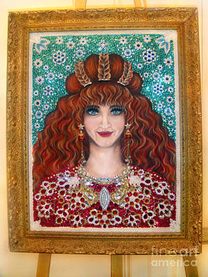 Bead Embroidery Painting - Sarah Goldberg Beauty Queen. Beadwork by Sofia Metal Queen