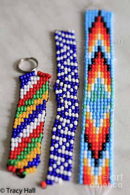 Seed Beads Photograph - Beadwork by Tracy Hall