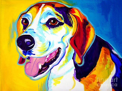 Dawgart Painting - Beagle - Lou by Alicia VanNoy Call