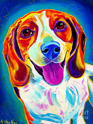 Painting - Beagle - Lucy by Alicia VanNoy Call