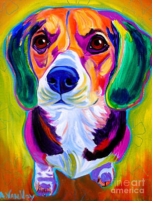 Alicia Vannoy Call Painting - Beagle - Molly by Alicia VanNoy Call
