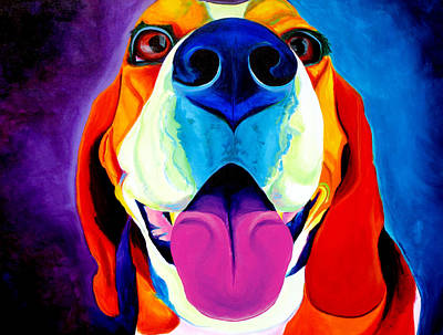 Colorful Dog Wall Art - Painting - Beagle - Lollipop by Alicia VanNoy Call