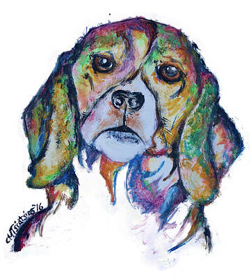 Painting - Beagle by Carol Tsiatsios