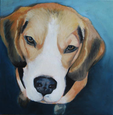 Wall Art - Painting - Beagle by Alison Stafford
