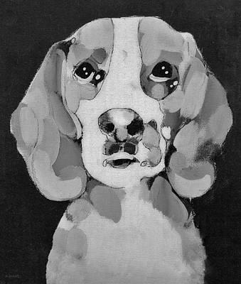 Photograph - Beagle B W by Rob Hans
