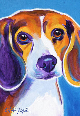 Beagle Puppies Painting - Beagle - Badger by Alicia VanNoy Call