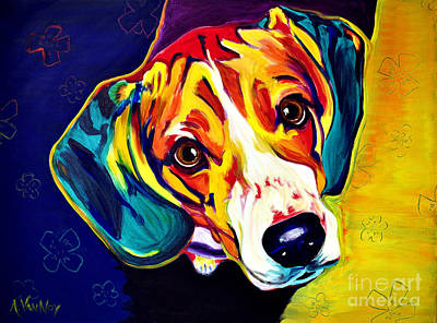 Dawgart Painting - Beagle - Bailey by Alicia VanNoy Call