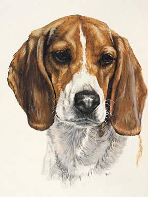 Beagle Art Print by Barbara Keith