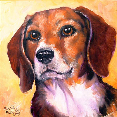 Painting - Beagle Billy by Marcia Baldwin