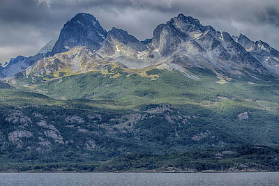Photograph - Beagle Channel Mountain Beauty by John Haldane