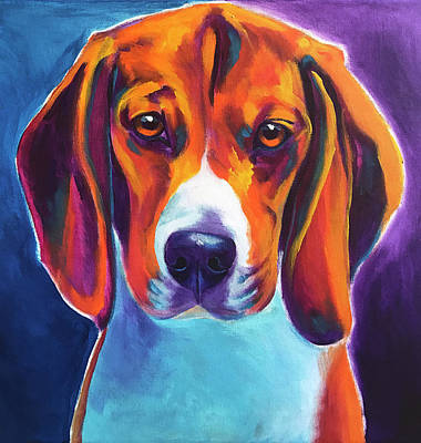 Painting - Beagle - Chester by Alicia VanNoy Call