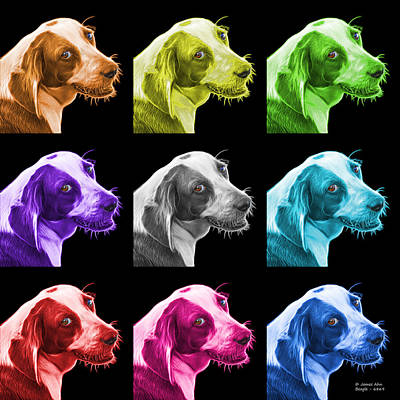 Painting - Beagle Dog Art- 6896 - Bb - M by James Ahn