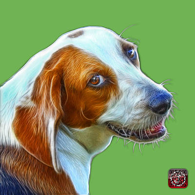 Painting - Beagle Dog Art- 6896 -wb by James Ahn