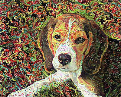Photograph - Beagle Dog Colorful Abstract Art by Peggy Collins