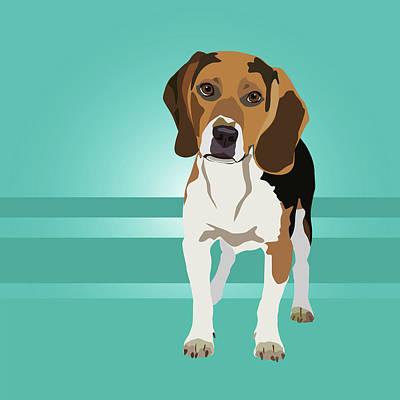Digital Art - Beagle Love by Kristin Bowen