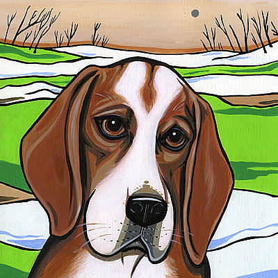 Beagle Puppies Painting - Beagle by Leanne Wilkes