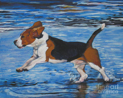 Beagle Puppies Painting - Beagle by Lee Ann Shepard