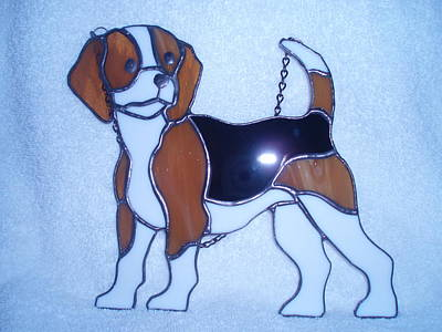 Glass Art - Beagle  by Liz Lowder