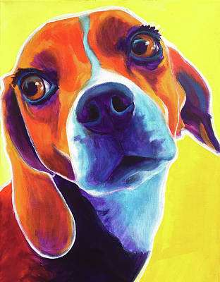 Pet Painting - Beagle - Marcie by Alicia VanNoy Call