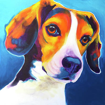 Painting - Beagle - Martin by Alicia VanNoy Call
