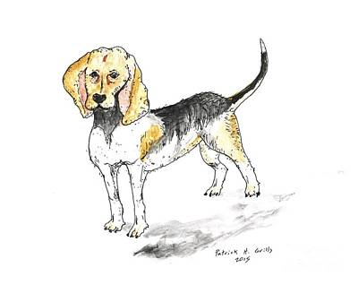 Painting - Beagle by Patrick Grills
