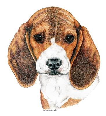 Beagle, Puppy Art Print by Kathleen Sepulveda
