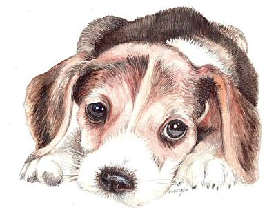 Puppy Mixed Media - Beagle Puppy by Morgan Fitzsimons