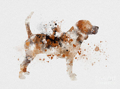 Prairie Dog Mixed Media - Beagle by Rebecca Jenkins