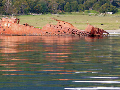 Photograph - Beagle Shipwreck by Kent Nancollas