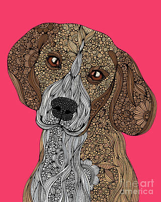 Beagle Wall Art - Digital Art - Beagle by Valentina
