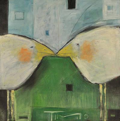 Humor Painting - Beak To Beak by Tim Nyberg