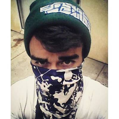 Er Photograph - #beakerism89#homemade #bandana #selfie by Jose Carmona
