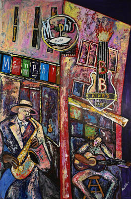Beale Street Painting - Beale St. Blues by Kelvin Baldwin