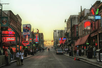 Photograph - Beale Street Evening by Debby Richards
