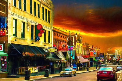 Photograph - Beale Street - Home Of The Blues - 2 by Barry Jones