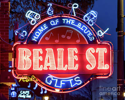 Photograph - Beale Street Home Of The Blues by Jerry Fornarotto