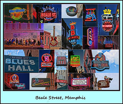 Photograph - Beale Street, Memphis - Collage by Allen Beatty