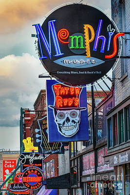 Photograph - Beale Street Neon by Jerry Fornarotto