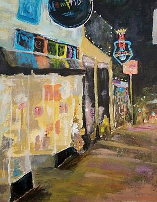 Beale Street Painting - Beale Street  by William Clanton